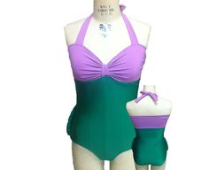 Princess Ariel Inspired Swimsuit Disney Little Mermaid Custom Fit Costume Style