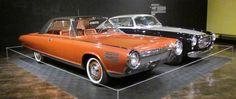 1963 Chrysler Turbine (orange) and 1952 Cunningham C3 Continental