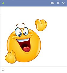 Cheering Smiley for Facebook