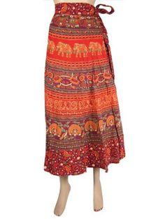 Women Long Wrapskirt Indie Maroon Orange Animal Floral Print Gypsy Cotton Wrap Around Skirts Mogul Interior, http://www.amazon.com/dp/B009YCXOB2/ref=cm_sw_r_pi_dp_FO9Kqb0DSK6GG