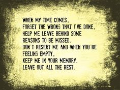 Leave Out All The Rest Lyrics by Linkin Park