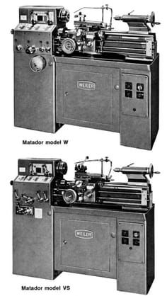 Weiler Matador Lathes Models W And Vs Operating Instructions And Parts Manual Ozark Tool Manuals Books Weiler Machine Shop Metal Lathe