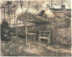 Vincent van Gogh Jardín con pérgola Watercolor, 1881 Museo Kröller-Müller
