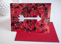 Make your own DIY Valentine Day's cards using recycled magazines #valentinesday