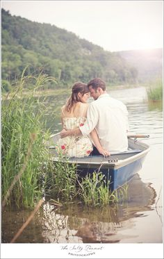 The Salty Peanut Photography - Row boat engagement session at Devil's Lake Wisconsin