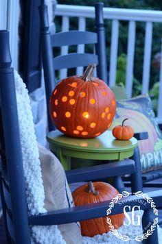 HOLEY PUMPKINS-pumpkins in the dark- stonegableblog.com