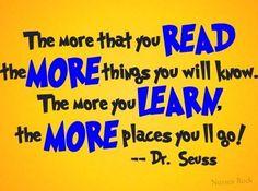 Dr Seuss says it best