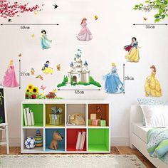girls room decor wall decals removable vinyl stickers mural decor art princess