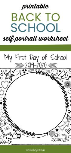 Back To School Activities: This First Day of School Self Portrait Printable is a great Back to School Trad. Back To School Activities: This First Day of School Self Portrait Printable is a great First Day Of School Activities, 1st Day Of School, Beginning Of School, I School, Back To School Kids, School Hacks, School Classroom, Middle School, Back To School Printables