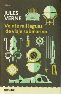 20.000 Leguas de viaje submarino. Debolsillo (2013) #julesverne #julioverne