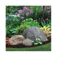 Fake-Rock-Garden-Outdoor-Decor-Natural-Faux-Large-Boulder-Cover-Septic-Hole-Yard