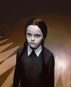 Wednesday Addams (+ poison bottle and/or doll)