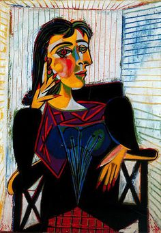 """Isadora - Portrait of Dora Maar by Pablo PicassoA list of famous artists isn't complete without Picasso. And, the longer form of Dora, Isadora, is derived from Greek and means """"gift of Isis. Portraits Cubistes, Cubist Portraits, Art Picasso, Picasso Paintings, Chagall Paintings, Henri Matisse, Guernica, Georges Braque, Art Moderne"""