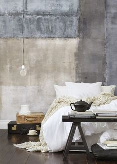 Mr Perswall Expressions - Wallpainting - - Bespoke Sizes Available - Wallpaper & Decor Wabi Sabi, Natural Homes, Wallpaper Decor, Shabby Chic Style, Paint Finishes, Interior Inspiration, Master Bedroom, Interior Design, House Styles
