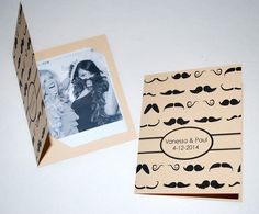 Photobooth Photo-Strip for POLAROID Picture Holders Booklet Style Wedding Party Favor Vintage Mustache design on Etsy, $1.50