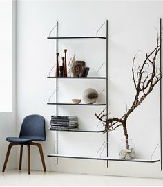 Wall-mounted sectional HPL #bookcase ROYAL SYSTEM by DK3 ApS | #design Poul Cadovius
