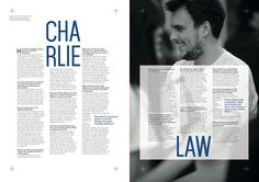 Charlie at Blonde Interview, Editorial, Typography, Student, Graphic Design, Letterpress, College Students