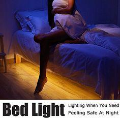 Motion Activated Bed Light, Vansky Flexible LED Strip Mot...