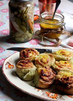 Mulberry and Pomegranate: ration recipes: piccalilli scone whirls picallili recipe Piccalilli, Australian Food, Vintage Recipes, Fresh Rolls, Pomegranate, Scones, 1940s, Food To Make, Nom Nom