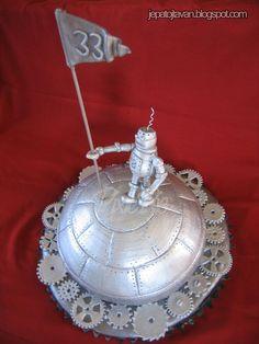 Steampunk cake with machinarium robot by Cakes by Pixie Pie, via Flickr