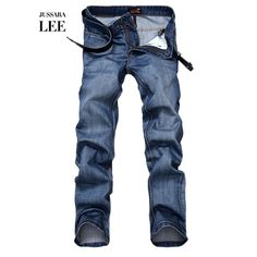 (Buy here: http://appdeal.ru/2vcz ) Mens Denim Pants Men Jeans Solid Straight Slim Fit Fashion Brand Denim Pants Homme Outdoor Sports Jeans Men Denim Trousers G2039 for just US $38.68