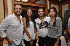 Apoorva Lakhia, Shamita Singha, Kedhar Gawde and Mashoom Singha at Taj Lands End Mumbai.