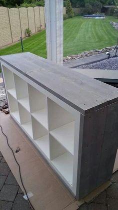 Ikeaschrank mit Holzumantelung