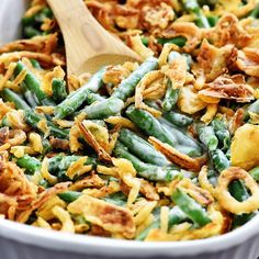 the best green bean casserole for you to make for Thanksgiving!