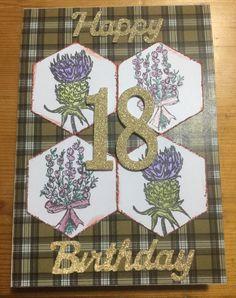Scottish themed card for my Swedish student