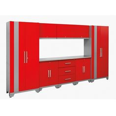 NewAge Performance 9 Piece Cabinet Set - Red  $1,759.95