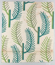 Textile sample Wiener Werkstätte  Designer: Designer Unknown Date: 1910–28 Medium: Cotton Dimensions: H. 18, W. 15-1/2 inches (45.7 x 39.4 cm.) Classification: Textiles Credit Line: Gift of Eugene Silbert, 1994 Accession Number: 1994.549.4