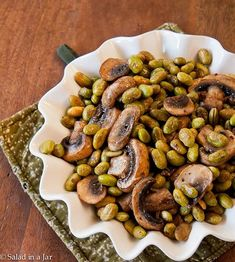 Edamame is not one of my favorite vegetables but I love the other ingredients in this recipe  the flavor that add to the edemame. I'll make this healthy recipe again.  Roasted edamame  mushrooms