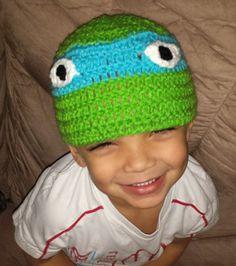 Ninja turtle crocheted hat!