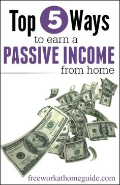 Are you looking for a way to make money on your sleep! Here are the top 5 ways to make a passive income from home.