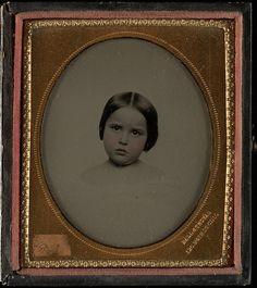 [Cameo portrait of young white girl] by Beinecke Library, via Flickr