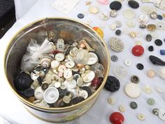 #Buttons #Vintage Brass Wood Assortment #Sewing Metal Shirt Free Shipping lbs