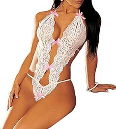 Queen® Hot Ladies Sexy Lingerie Lace Teddy Babydoll Dress Underwear Sleepwear Black White (White) - http://girlsbook101.com/2015/10/queen-hot-ladies-sexy-lingerie-lace-teddy-babydoll-dress-underwear-sleepwear-black-white-white/