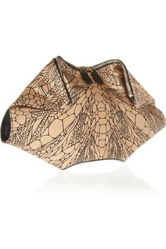The De Manta printed silk-satin clutch from Alexander McQueen