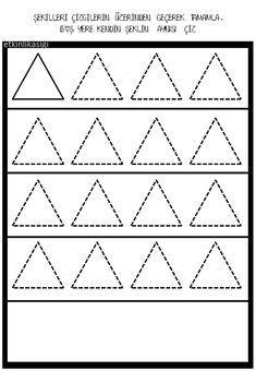 Shapes Worksheets, Tracing Worksheets, Preschool Worksheets, Tracing Shapes, All Schools, Kindergarten Art, Motor Activities, Home Schooling, Dots