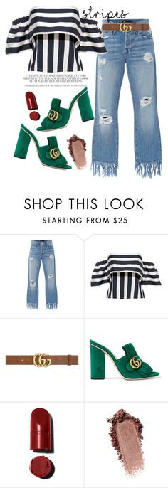 """""""Big, bold stripes ♡"""" by gold-candle23 ❤ liked on Polyvore featuring 3x1 and Gucci"""