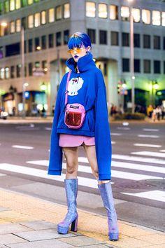 japonesa asian fashion The Best Street Style From Tokyo Fashion Week Spring 2019 Tokyo Fashion, Japan Street Fashion, Korean Street Fashion, Harajuku Fashion, Runway Fashion, Fashion Fashion, Fashion Spring, Fashion Dresses, Harajuku Girls