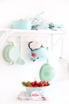 Syl loves, minty, mint, enamel, popsicles, kitchen, pastels