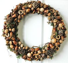 A nut and acorn wreath will be an adorable decoration not only for fall but also for Thanksgiving and even Christmas, so such a decoration is worth making it. Description from designrulz.com. I searched for this on bing.com/images