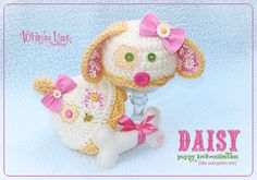 Baby Puppy Hat & Tushy Cover Set  Daisy Hat by whimsylaneboutique, $45.00