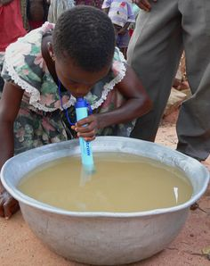 LifeStraw ... removes a minimum of 99.99999% of waterborne bacteria and can filter up to 1000L of water. The 2oz straw contains no chemicals and no batteries.
