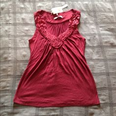 Beautiful Sleeveless Shirt from Nordstrom Wine color ...size XS.  Brand new. Very cute and dressy!! Lightweight material with a little stretch! Perfect for summer! ☀️ Tops Tank Tops