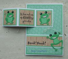 Origami Flowers, Marianne Design, Kirigami, Kids Cards, Stampin Up, Paper Crafts, Die Cutting, Frogs, Scrapbooking