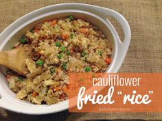 "Cauliflower Fried ""Rice"" {a recipe}"
