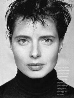 1994 02 Glamour Fr - Ph. Mario Testino : Isabella Rossellini