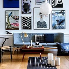 Gallery walls are such a great way to inject character into a living space.